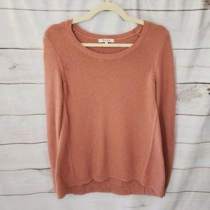 Madewell Riverside Textured Sweater Peach